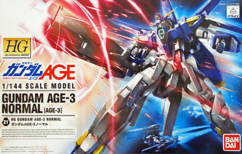 Bandai Gundam HG AGE-21 Gundam Normal AGE-3 1/144 Scale Kit