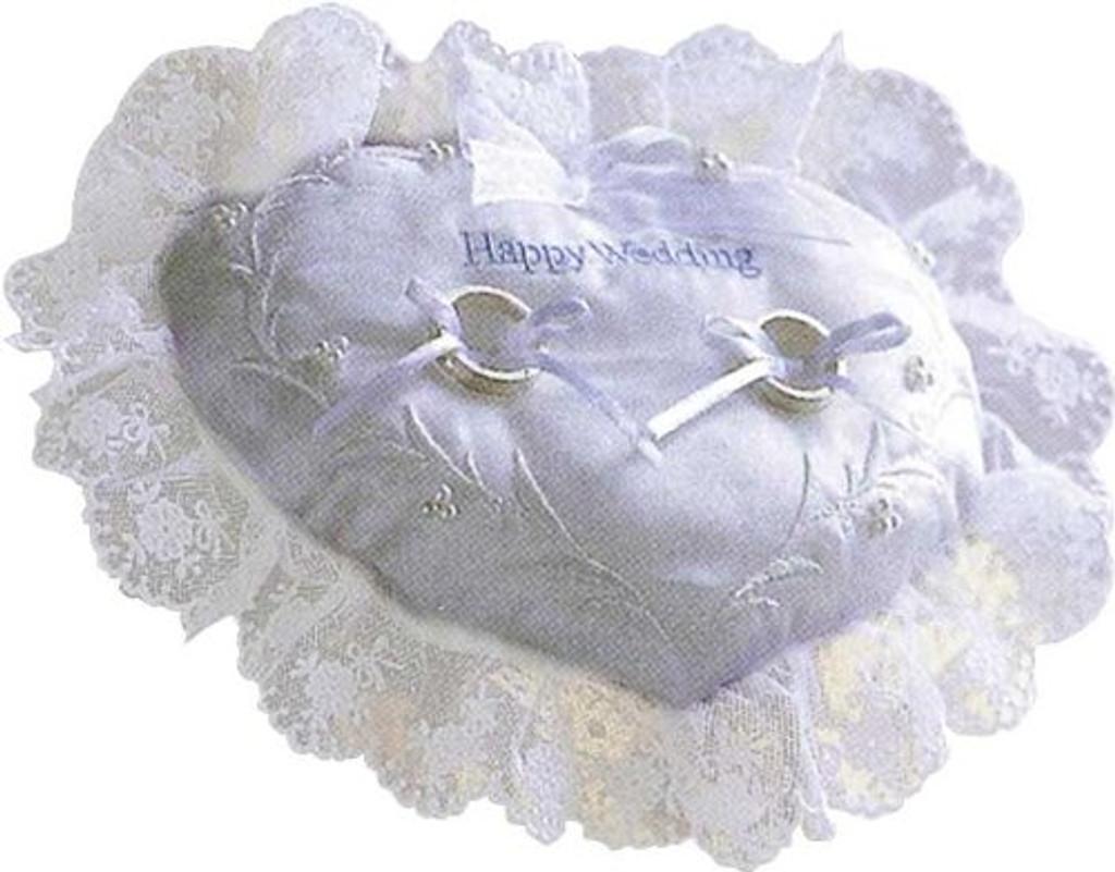 Hamanaka H431-071 Wedding Kit Embroidered Ring Pillow Heart