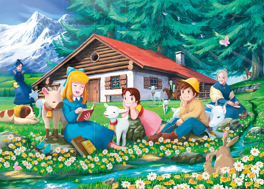 Beverly Jigsaw Puzzle 66-113 Heidi, Girl of the Alps, Stream of Alm (600 Pieces)