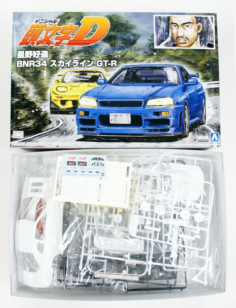 Aoshima 57339 Initial D Kozo Hoshino BNR34 Skyline GT-R 1/24 Scale kit