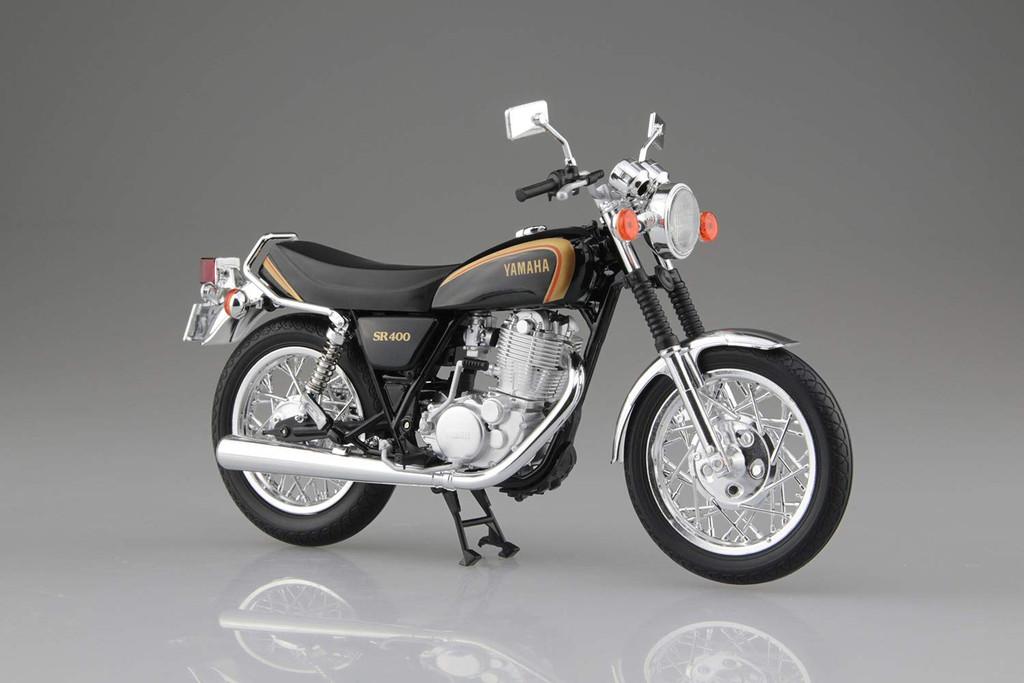 Aoshima Skynet 05863 YAMAHA SR400 Black Gold 1/12 Scale Finished Model