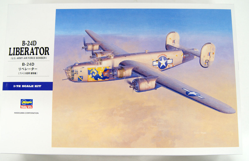 Hasegawa E28 US Army Air Force Bomber B-24D Liberator 1/72 Scale Kit