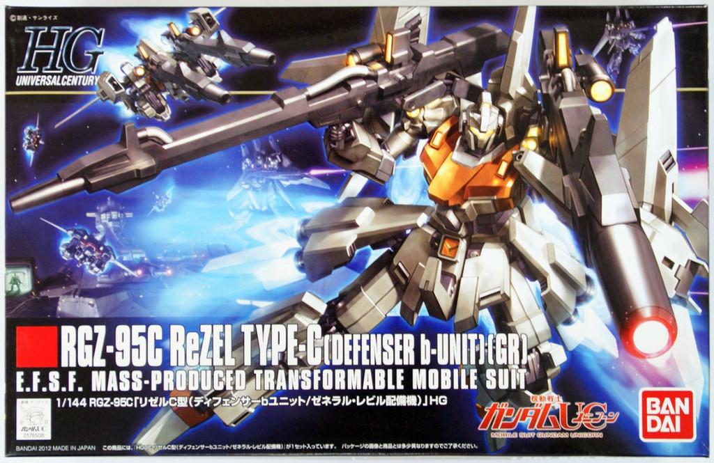 Bandai HGUC 142 Gundam TGZ-95C ReZEL Type-C (Deffenser b-unit) 1/144 Scale Kit