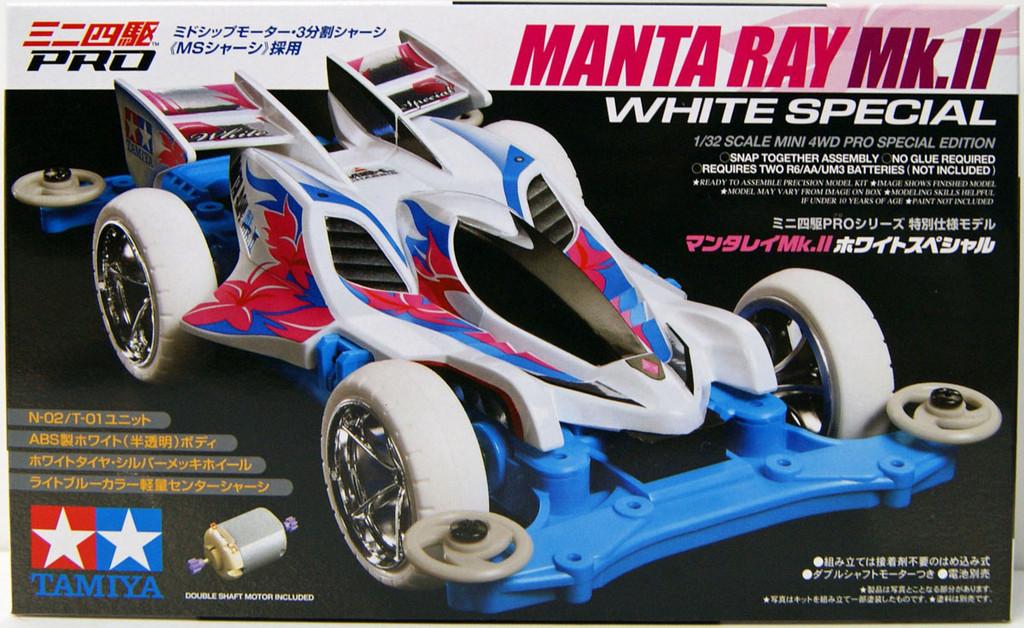 Tamiya Mini 4WD 95462 Manta Ray Mk.II White Special MS Chassis 1/32