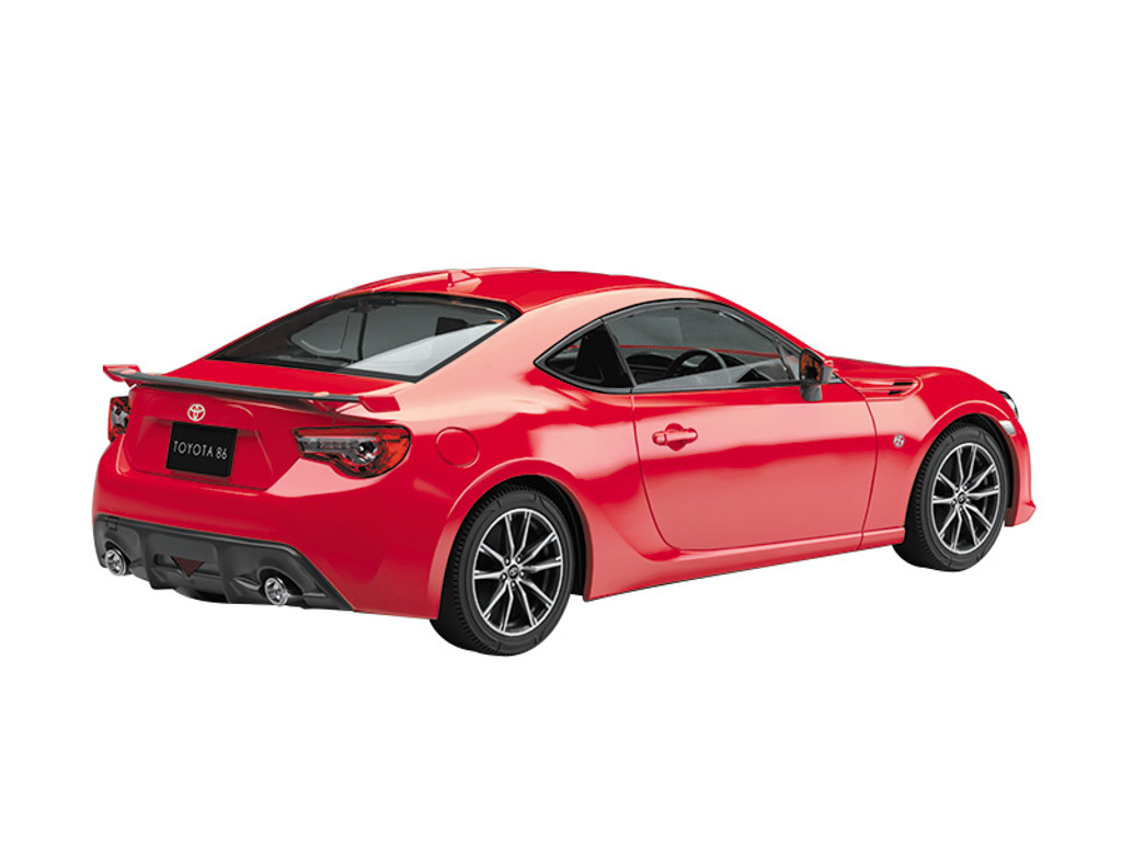 Aoshima 57544 Toyota 86 Pure Red 1/32 Scale Pre-painted Snap-fit Kit