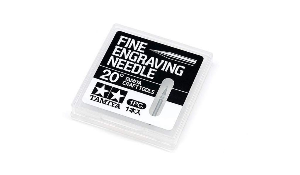 Tamiya 74148 Craft Tools Fine Engraving Needle 20 Degrees