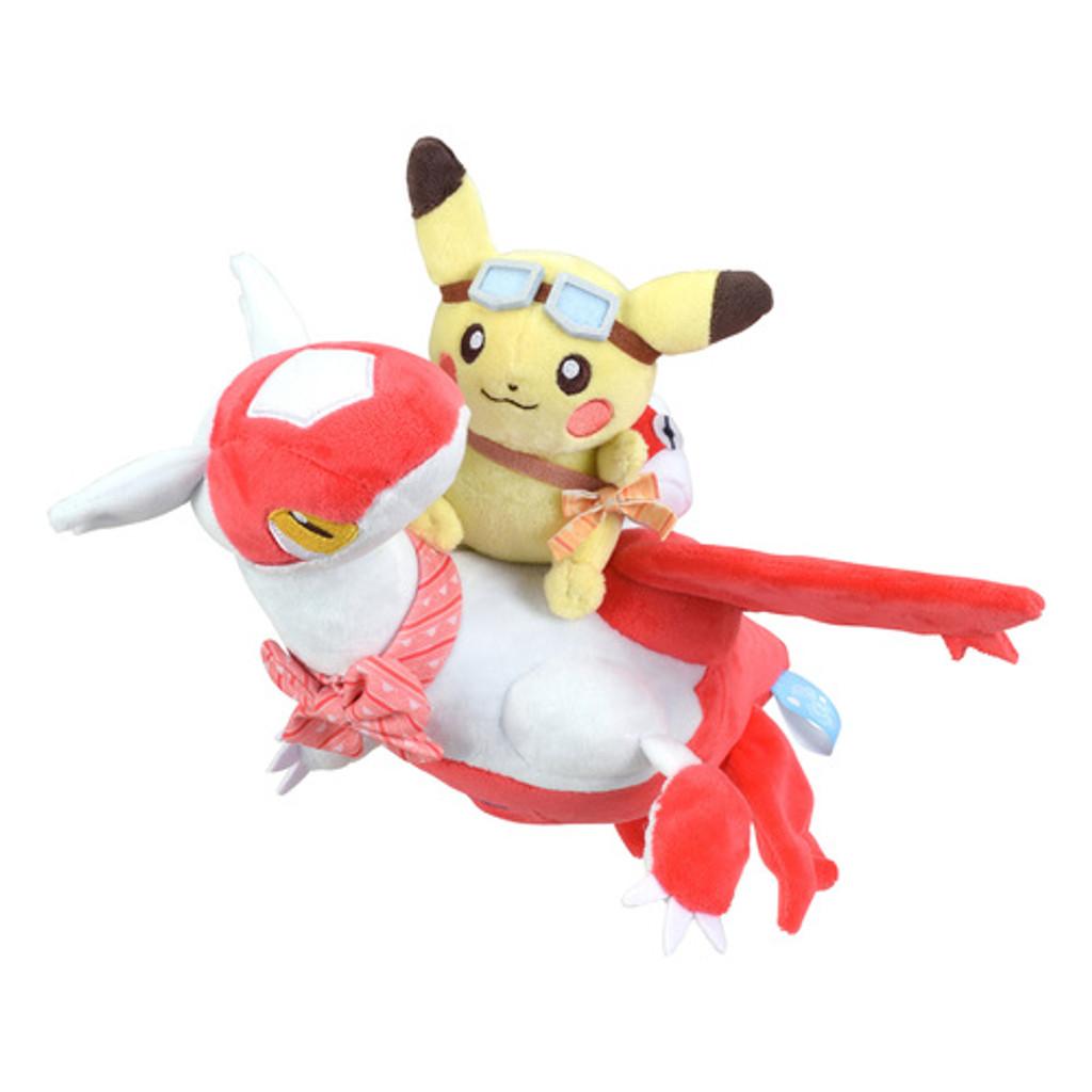 Pokemon Center Original Plush Doll Pikachu Riding Latias