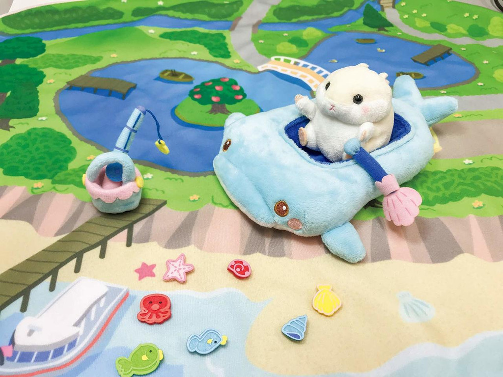 Kawada YF-024 Yume Fuwa Town Plush Doll Whale Boat & Fishing Set