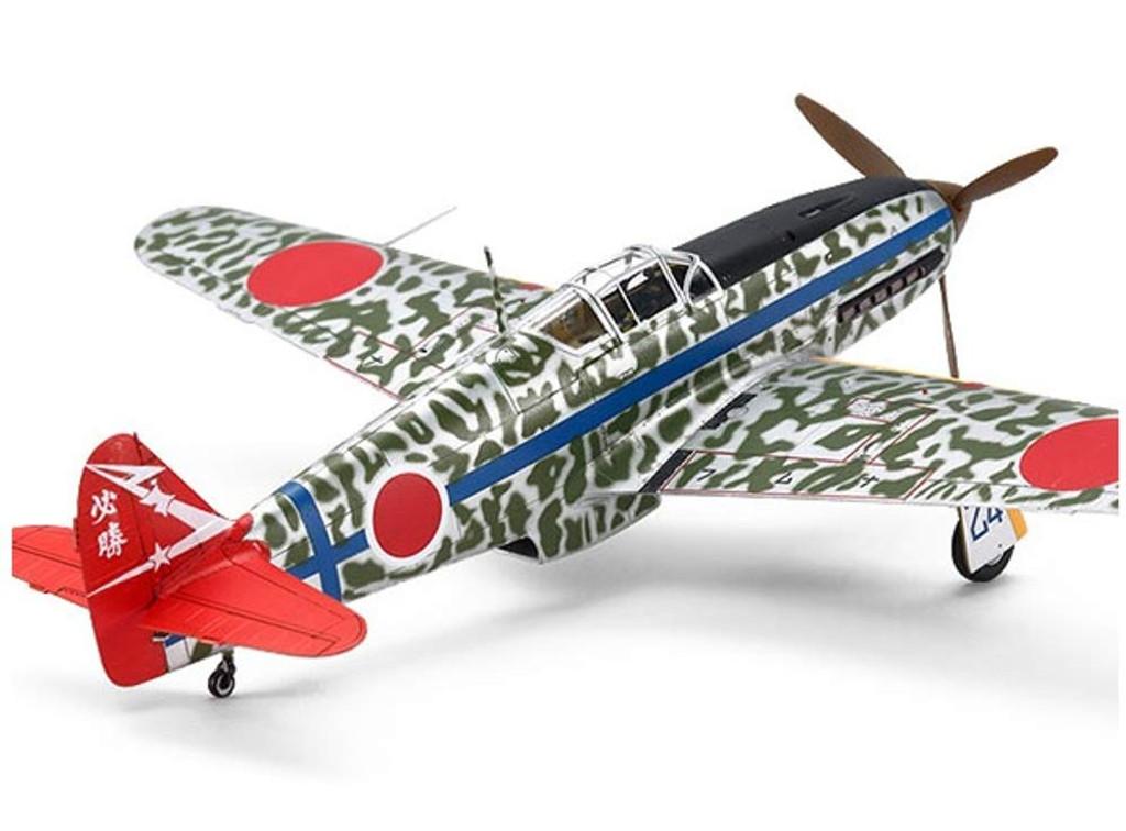 Tamiya 25420 Kawasaki Ki-61-Id Hien (Tony) Silver Color Plated (w/Camo Decals) 1/72 Scale