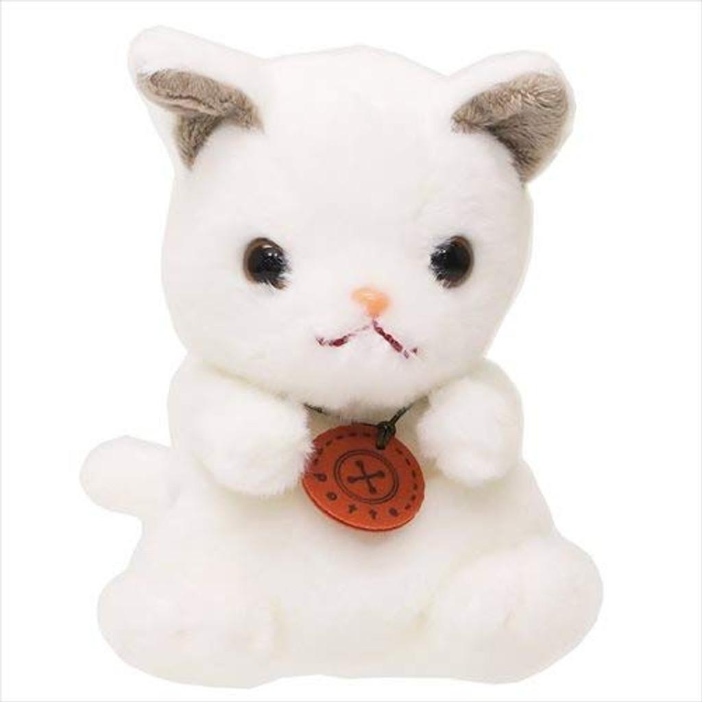 Sun Arrow Potte Plush Doll Shironeko White Cat TJN