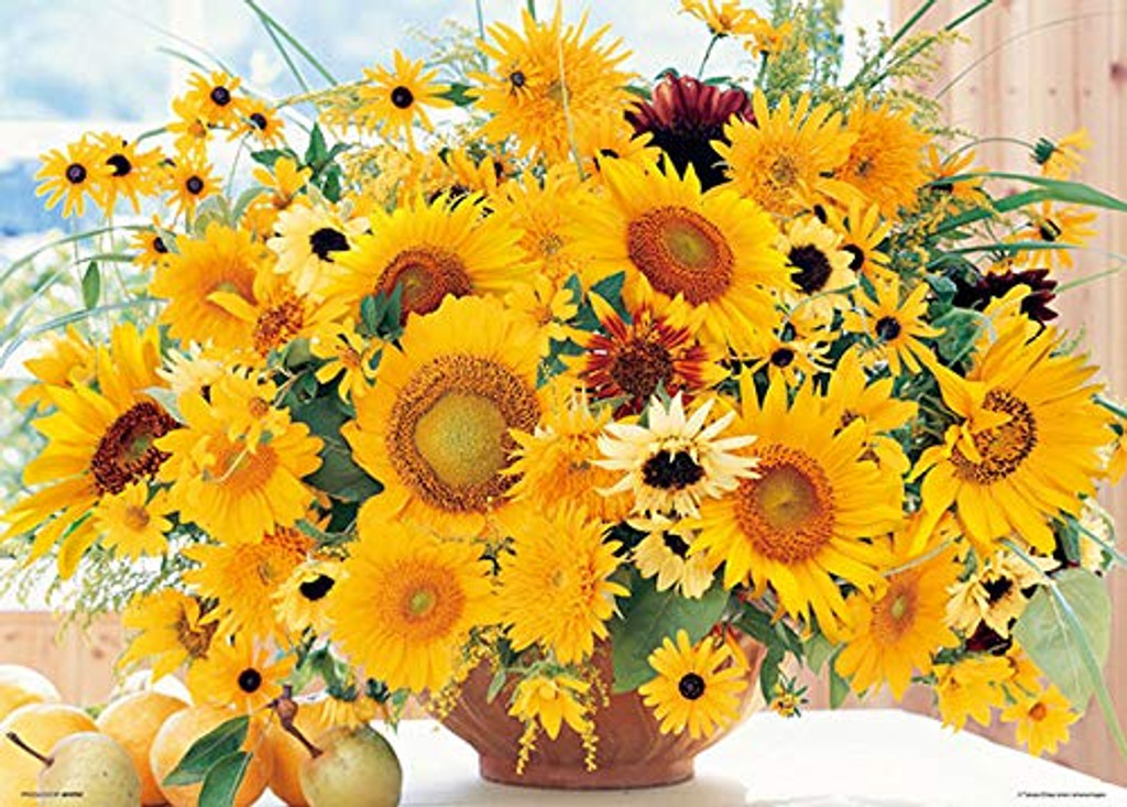 Beverly Jigsaw Puzzle 66-124 Powerful Yellow Sun Flower (600 Pieces)