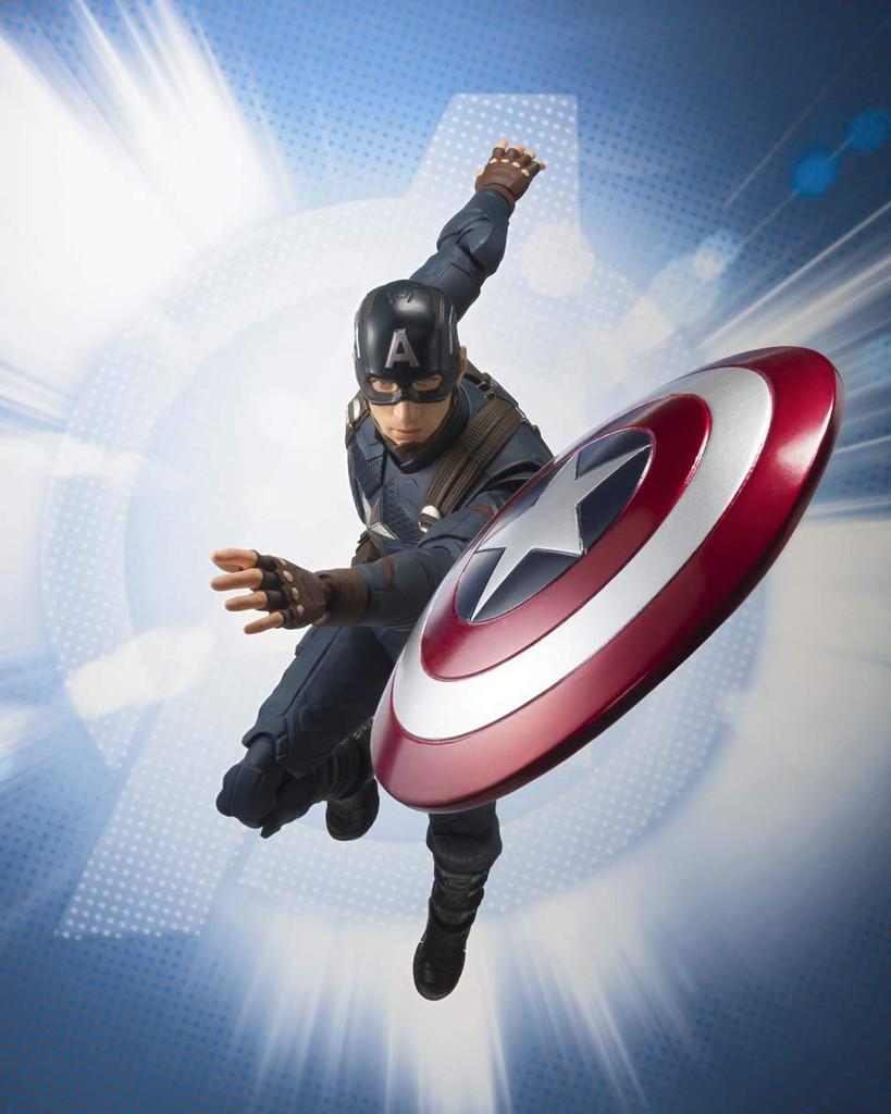 Bandai S.H. Figuarts Captain America Figure (Avengers: Endgame)