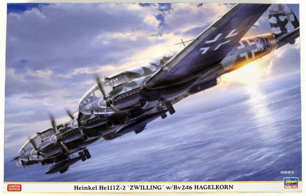 Hasegawa 02305 Heinkel He111Z-2 Zwilling w/Bv246 Hagelkorn 1/72 Scale Kit