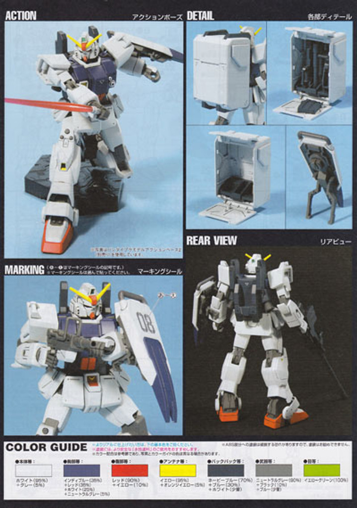 Bandai HGUC 079 Gundam RX-79(G) GROUND TYPE 1/144 Scale Kit
