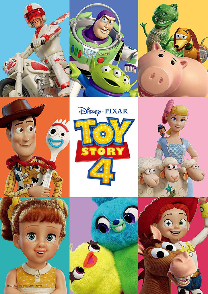 Tenyo Japan Jigsaw Puzzle D300-012 Disney Pixar Toy Story 4 (300 Pieces)