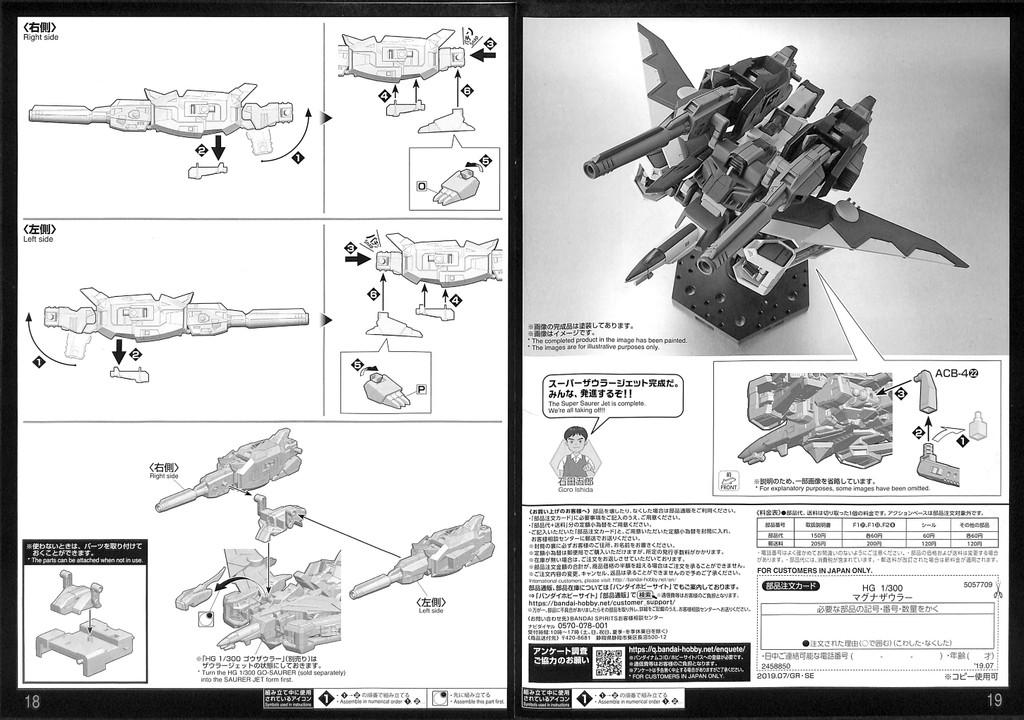 Bandai Go-Saurer Magnasaurer 1/300 Scale Kit