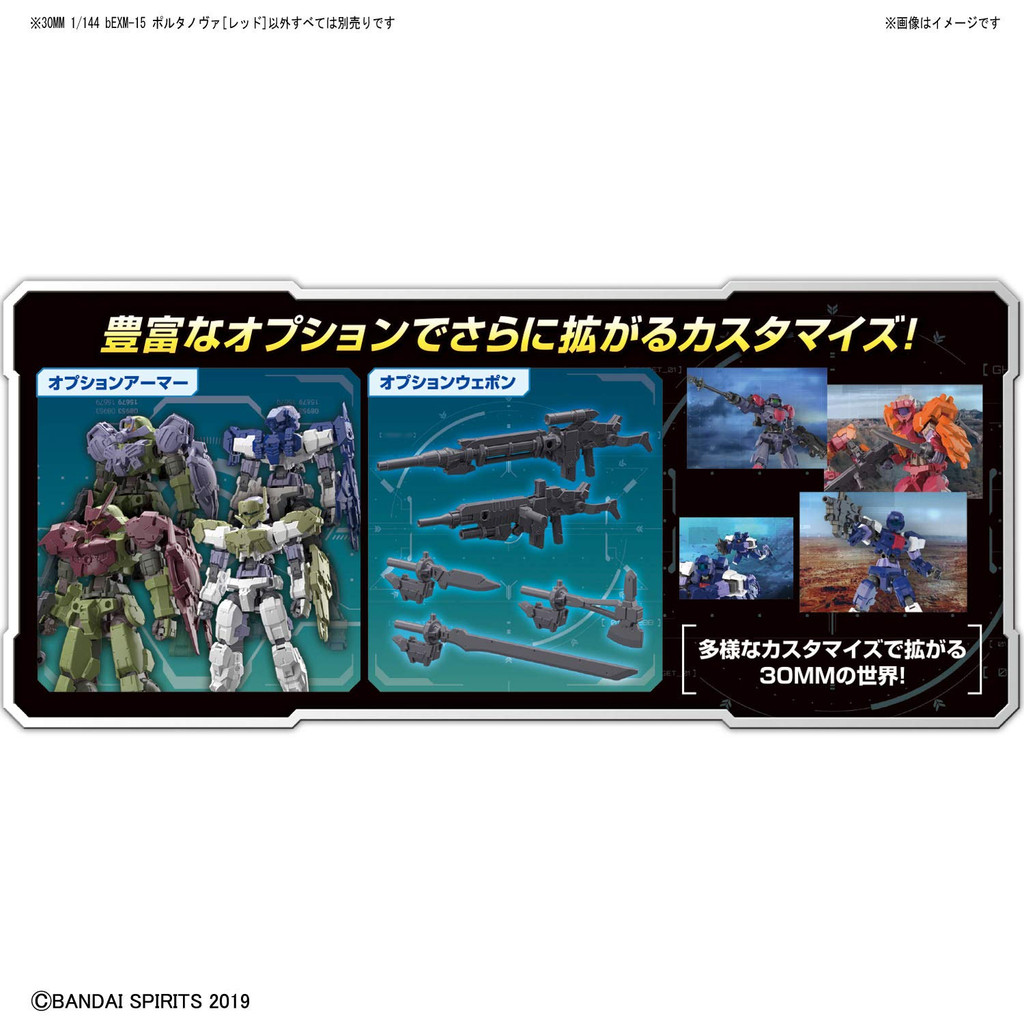 Bandai 30 Minutes Missions (30MM) bEMX-15 PORTANOVA (Red) 1/144 Scale Kit