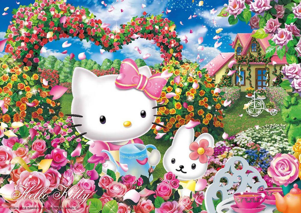 Beverly Jigsaw Puzzle 108-820 Hello Kitty Rose Garden (108 Pieces)