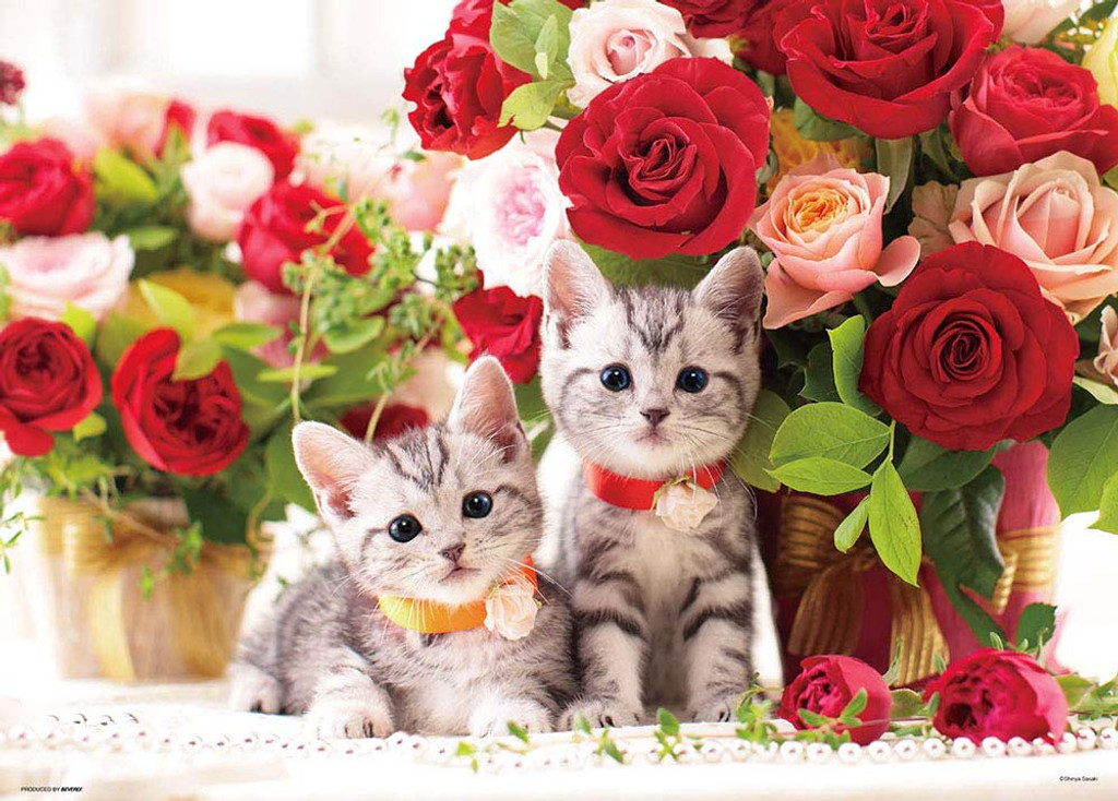 Beverly Jigsaw Puzzle P66-115 Kitten and Rose Time (600 Pieces)