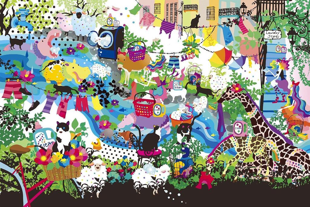 Epoch Jigsaw Puzzle 13-005 Kayo Horaguchi Illustraion (1000 Pieces)