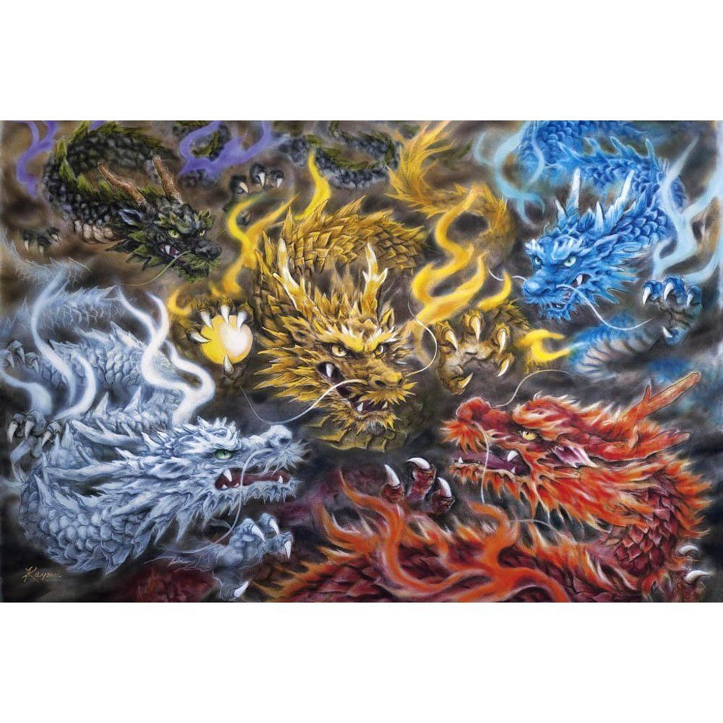 Epoch Jigsaw Puzzle 21-105 Japanese Art Dragon (3000 S-Pieces)