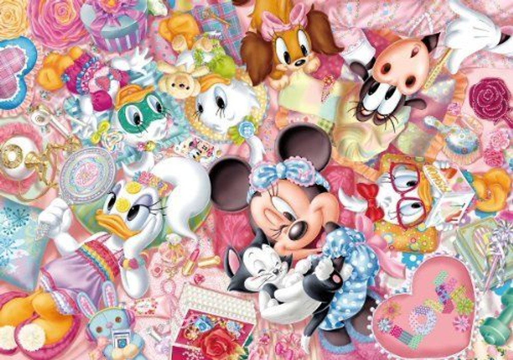 Tenyo Japan Jigsaw Puzzle D-300-256 Disney Minnie Pajamas Party (300 Pieces)