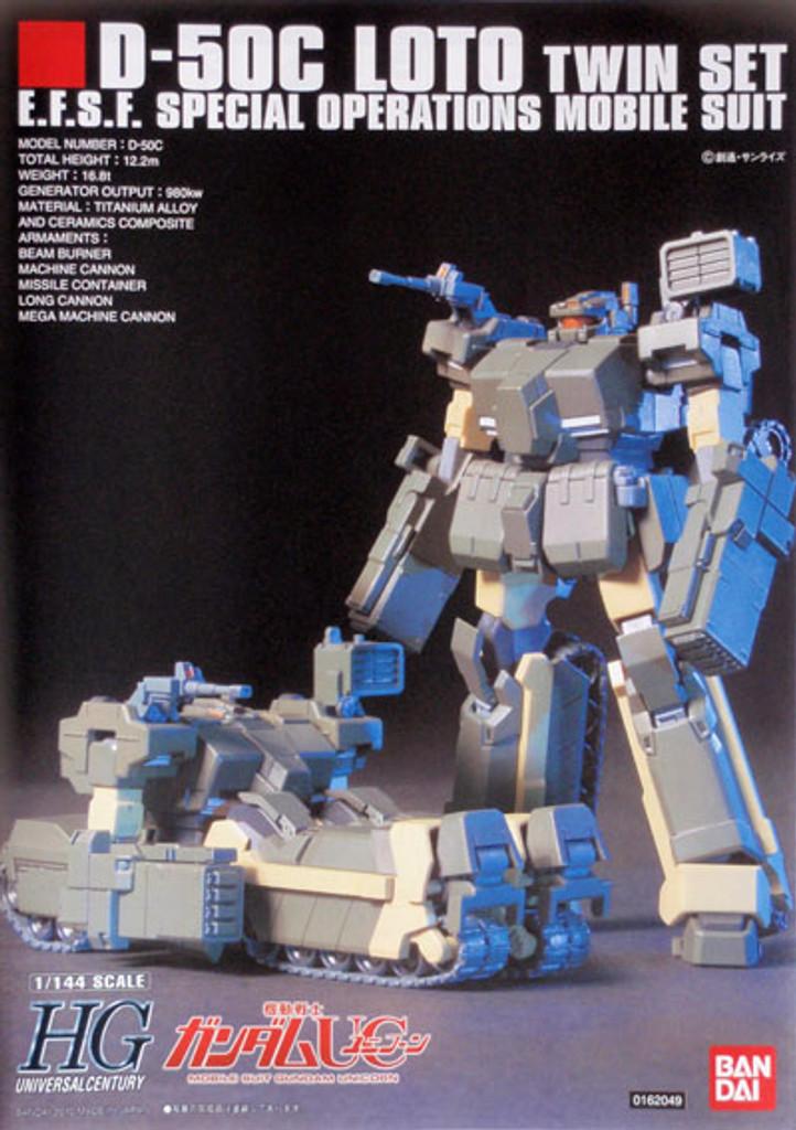 Bandai HGUC 106 Gundam D-50C LOTO TWIN SET 1/144 Scale Kit