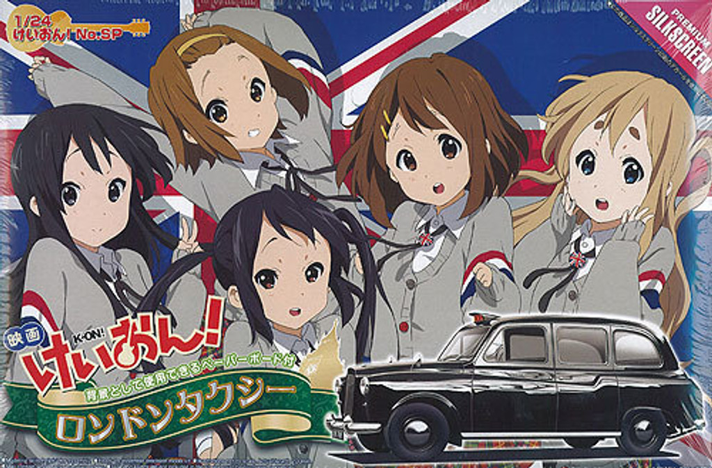 Aoshima 03909 K-On! London Cab Taxi 1/24 Scale Kit