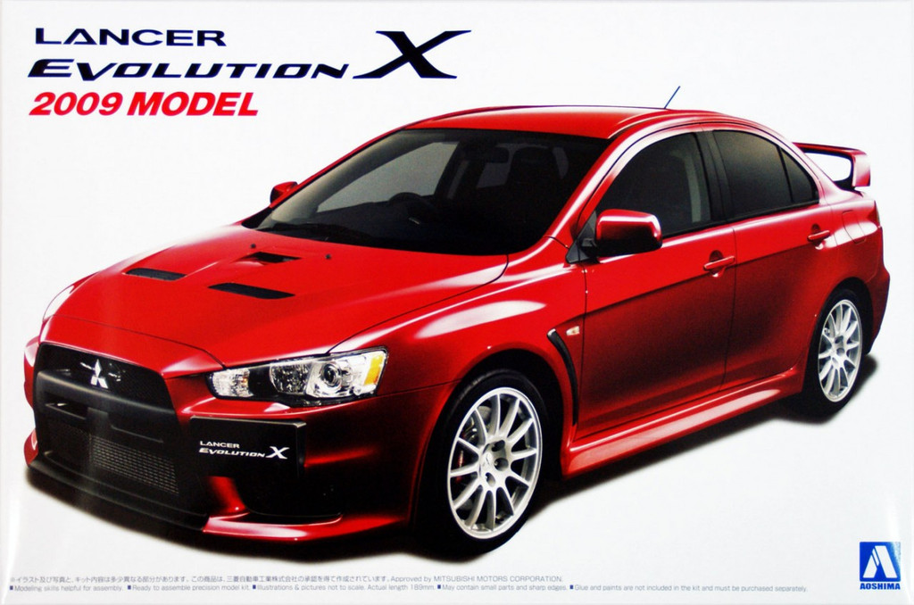 Aoshima 05071 Mitsubishi Lancer Evolution X 2009 Model 1/24 Scale Kit