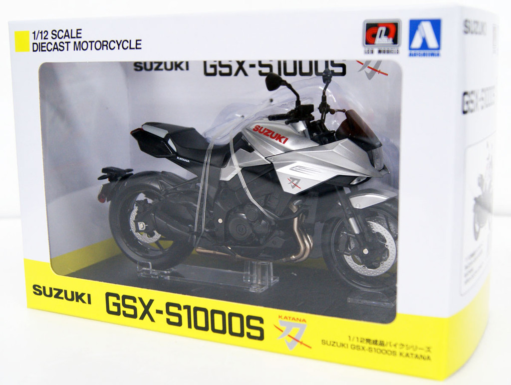 Aoshima SUZUKI GSX-S1000S KATANA Metallic Mystic Silver 1/12 Scale Finished Model
