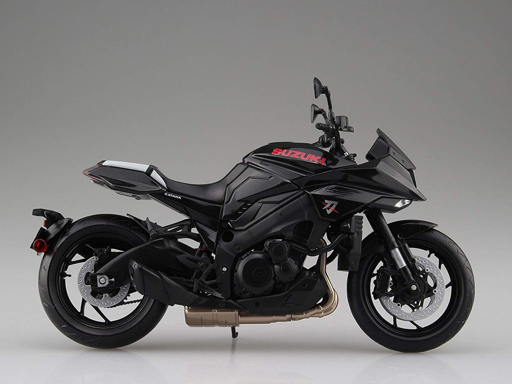 Aoshima SUZUKI GSX-S1000S KATANA Glass Sparkle Black 1/12 Scale Finished Model