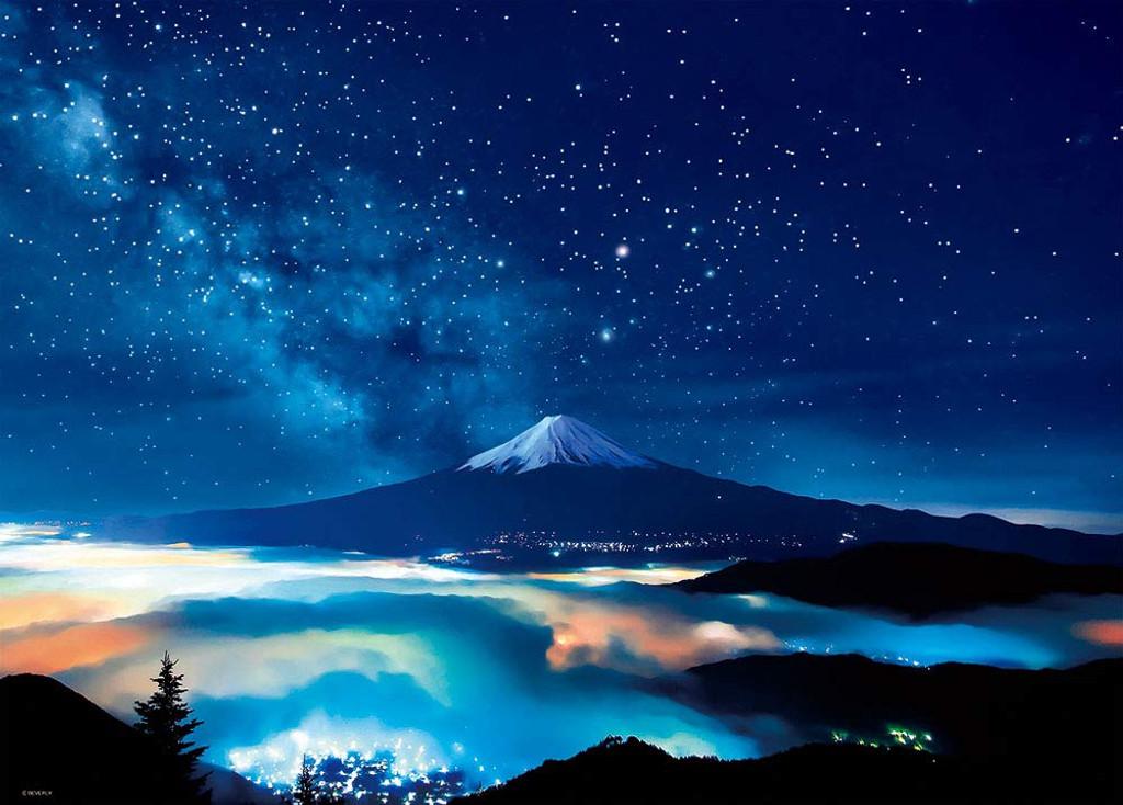 Beverly Jigsaw Puzzle 66-127 Yamanashi Japan Starry Sky & Mount Fuji (600 Pieces)