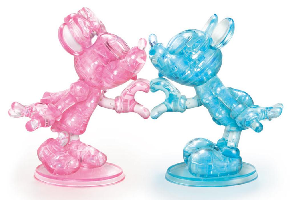 Hanayama Crystal Gallery 3D Puzzle Disney Mickey & Minnie 68 Pieces 4977513076357