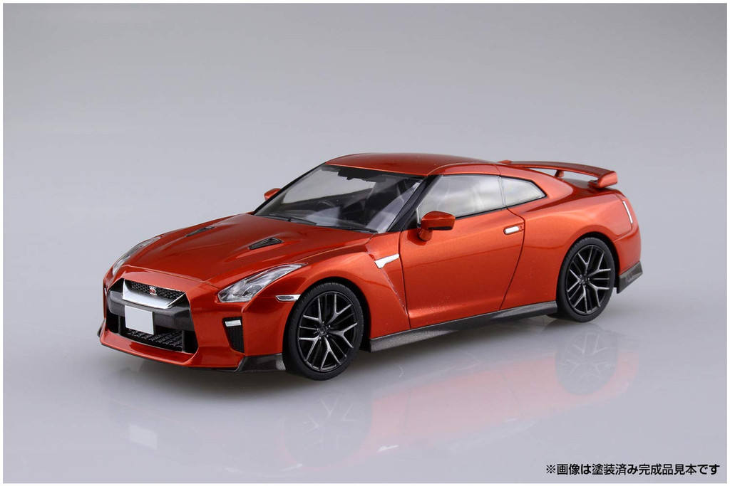 Aoshima 56387 07-A Nissan GT-R (Orange) 1/32 Scale Pre-Painted Snap-Fit Kit