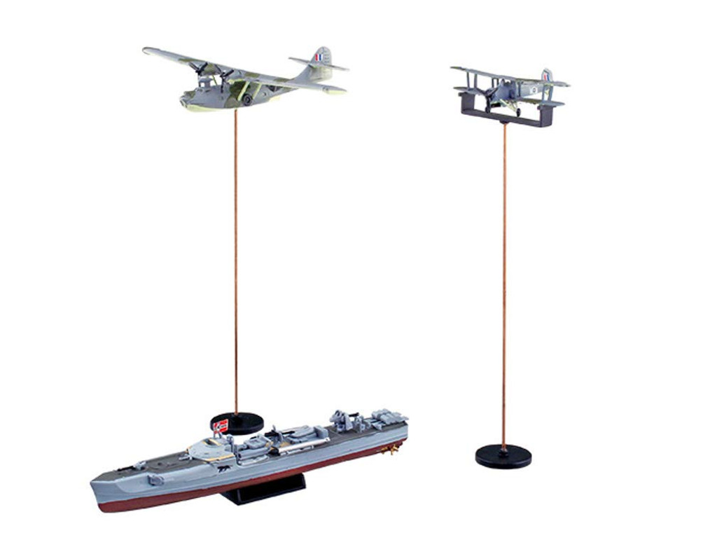 Aoshima Ironclad Steel Navies S-boat SP w/ HMS Aircraft 1/350 Scale Kit