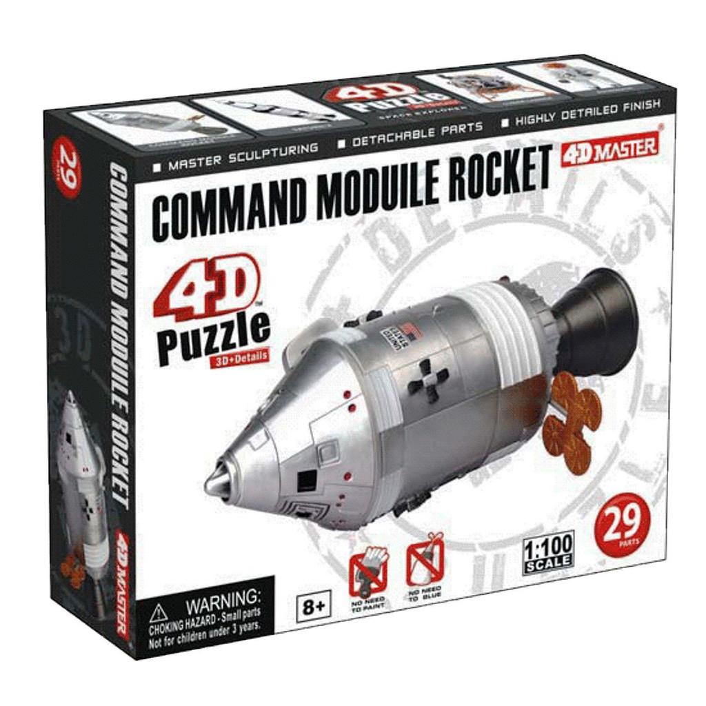 Aoshima 4D Puzzle Space No.5 Command Moduile Rocket 1/100 Scale Kit