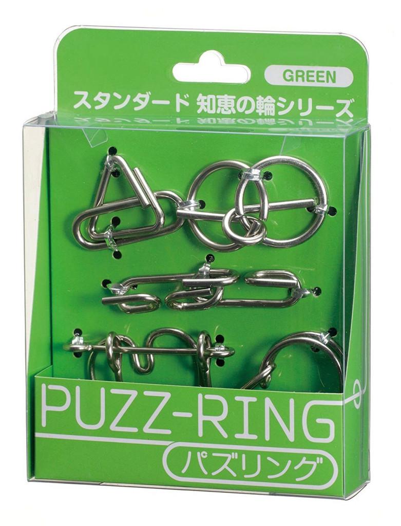 Hanayama Puzzle Puzz Ring GREEN
