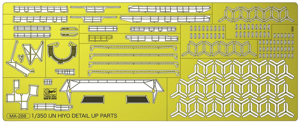 Hasegawa 40097 1/350 IJN Aircraft Carrier Hiyo Detail Up Photo-Etched Parts