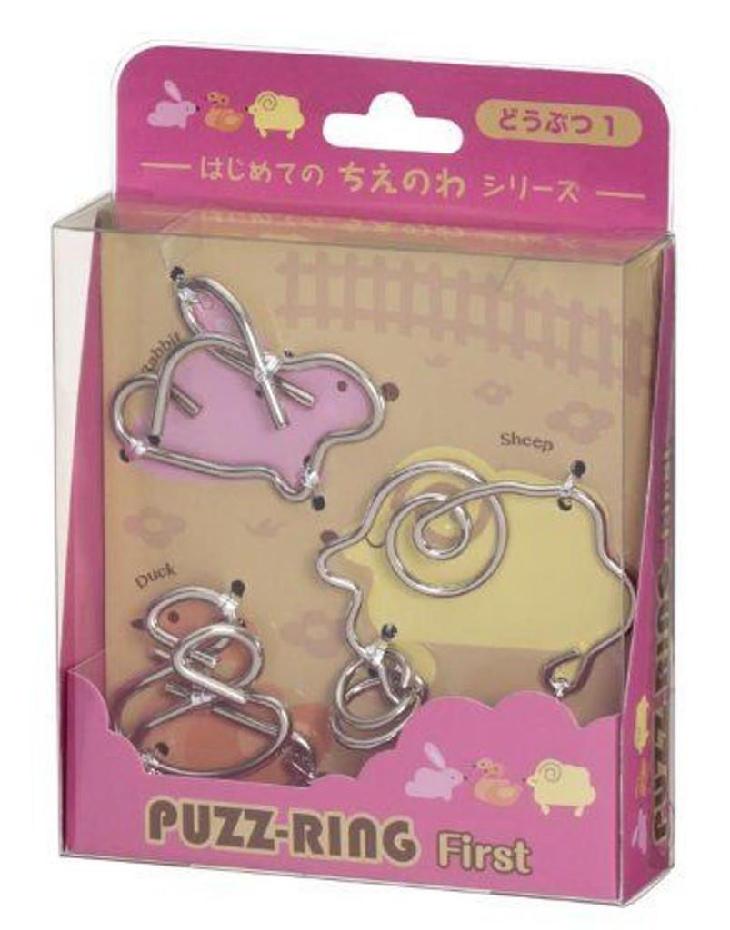 Hanayama Puzzle Puzz Ring First Animal 1