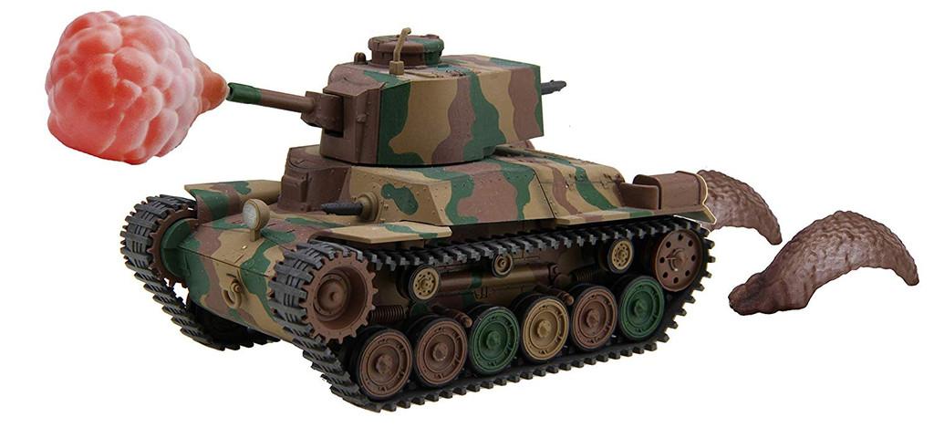 Fujimi TM4 EX-1 Chibi-Maru Medium Tank Chi-Ha New Gun Turret Sp (w/ Effect Parts)