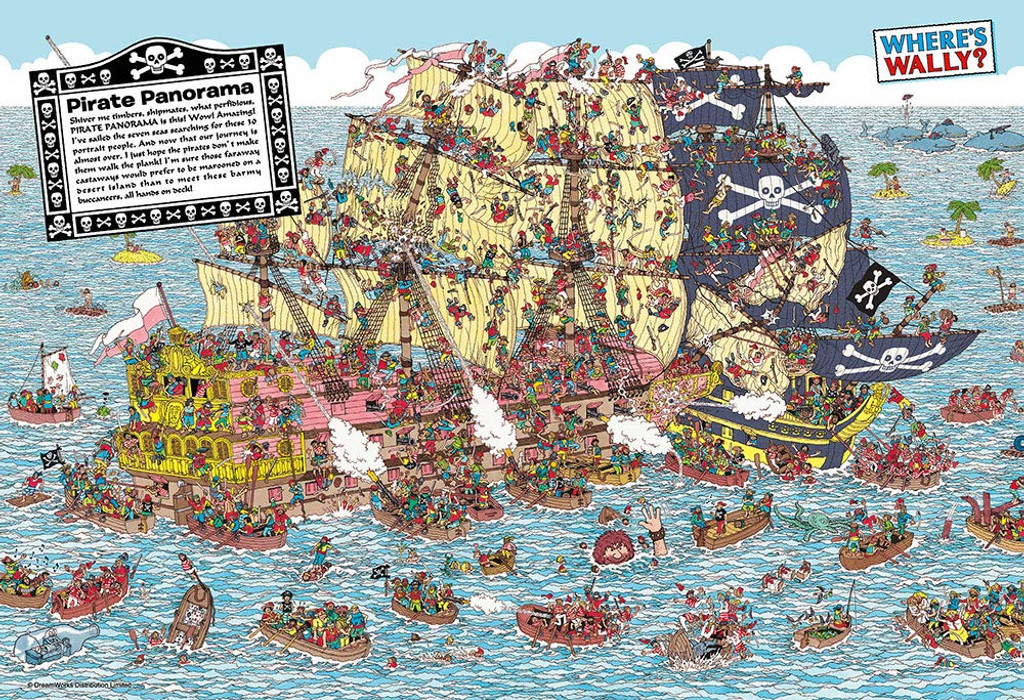 Beverly Jigsaw Puzzle M81-724 Where's Wally? Pirate Ship (1000 S-Pieces)