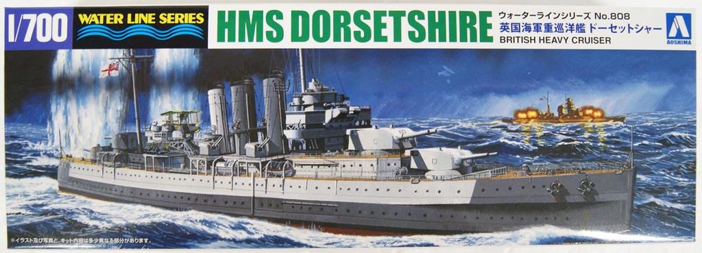 Aoshima Waterline 52693 Royal Navy Heavy Cruiser HMS Dorsetshire 1/700 Scale Kit