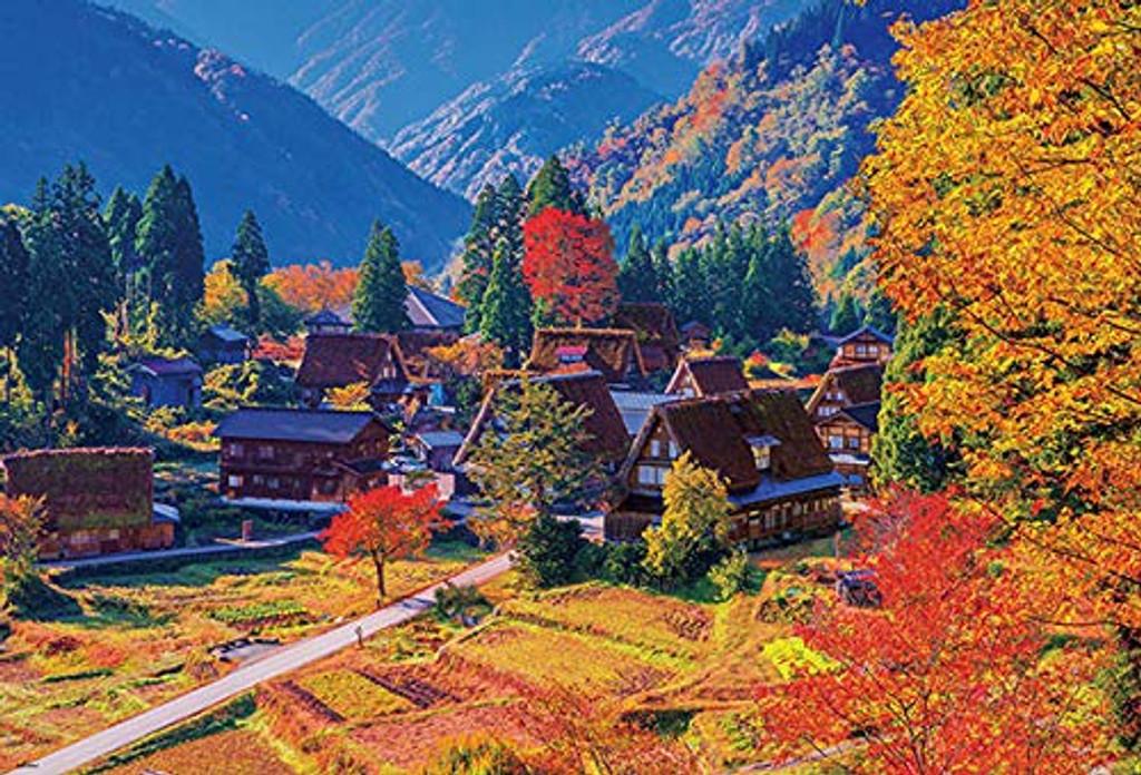 Beverly Jigsaw Puzzle 51-257 Autumn Leaves in Gokayama Toyama (1000 Pieces)