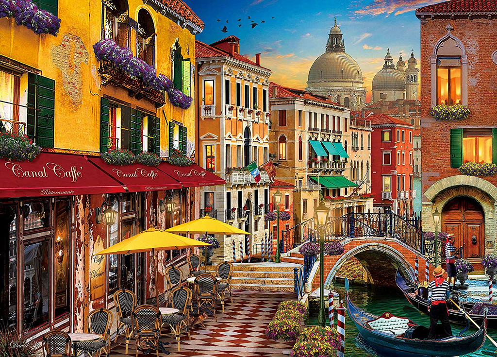 Epoch Jigsaw Puzzle 54-211 Canal Cafe Venice David Mclean (2000 S-Pieces)
