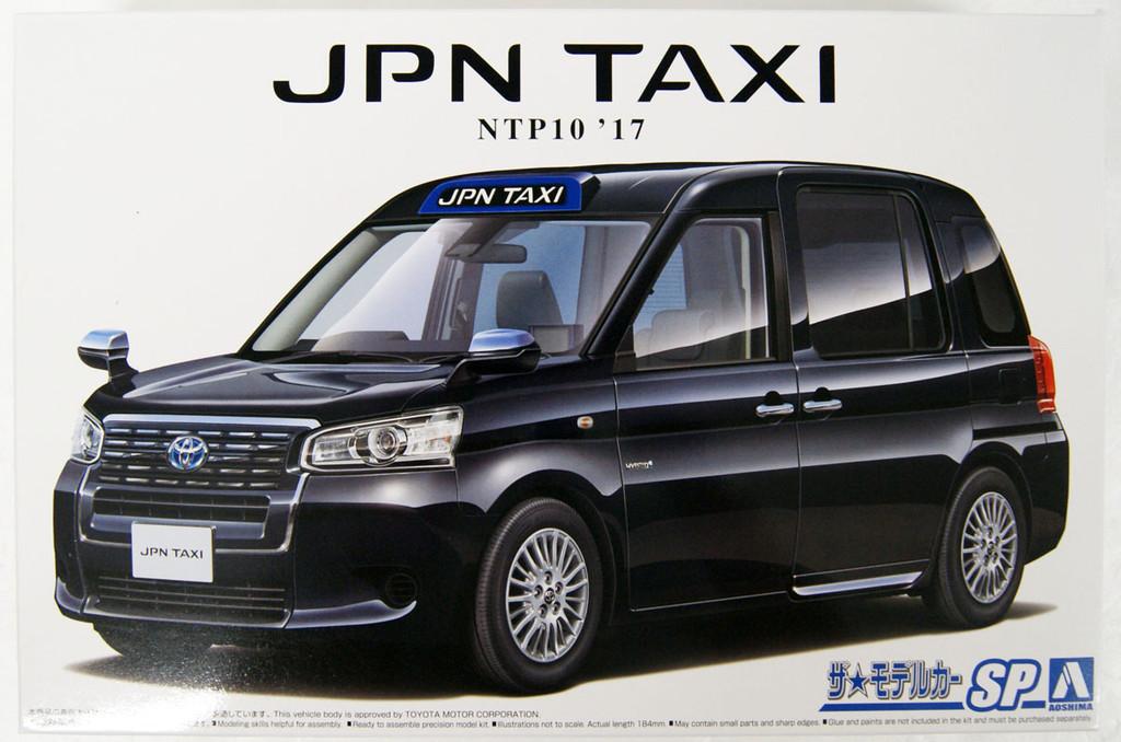Aoshima 57131 The Model Car Toyota NTP10 JPN Taxi '17 Black 1/24 Scale Kit