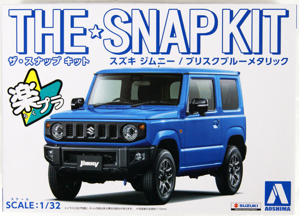 Aoshima 05778 08-C Suzuki Jimny (Brisk Blue Metallic) 1/32 Scale Pre-painted Snap-fit Kit