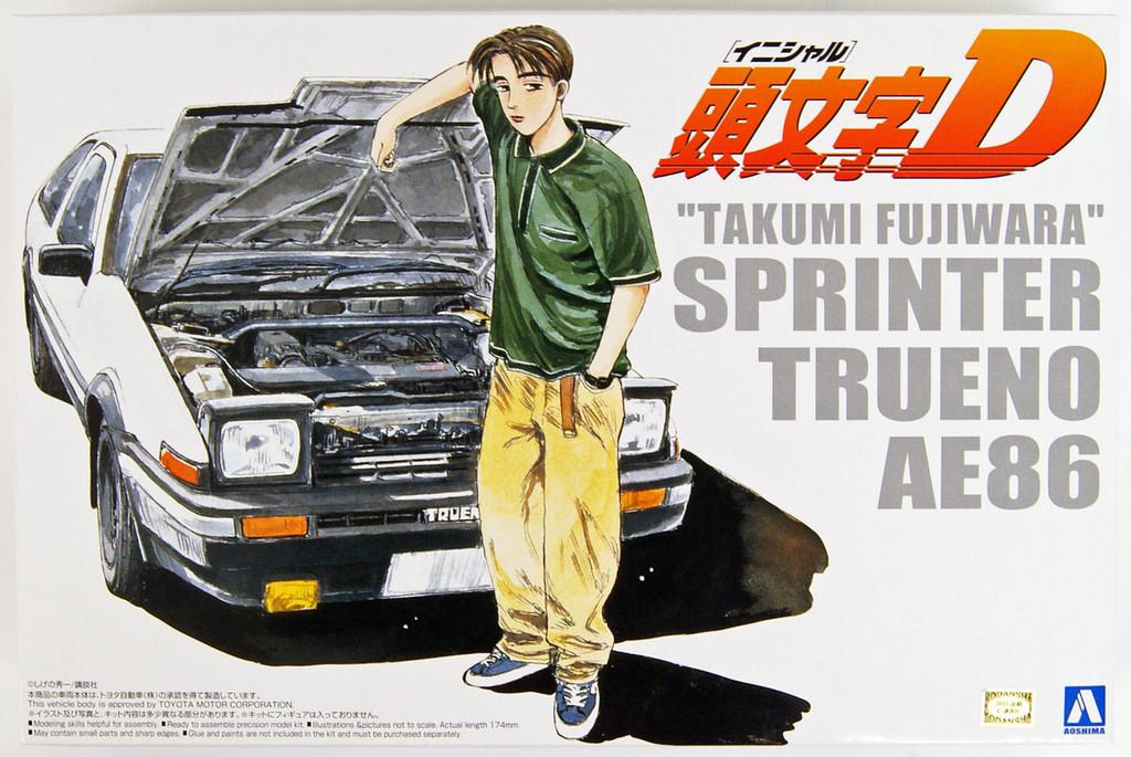 Aoshima 03206 Initial D T.Fujiwara 86 Trueno (Comics Vol.01 Ver.) 1/24 scale kit