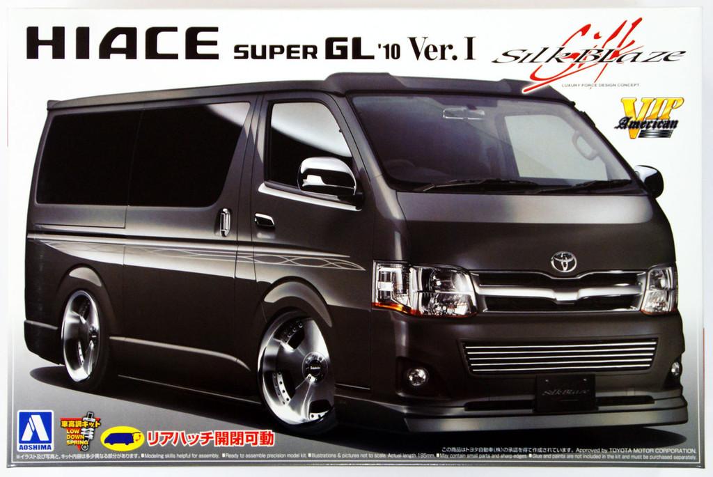 Aoshima 06658 Toyota Hiace Super GL 2010 Silk-Blaze VersionI 1/24 Scale Kit