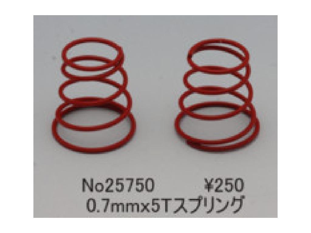 Grid Spring set 0.7mm x 5T (Red)