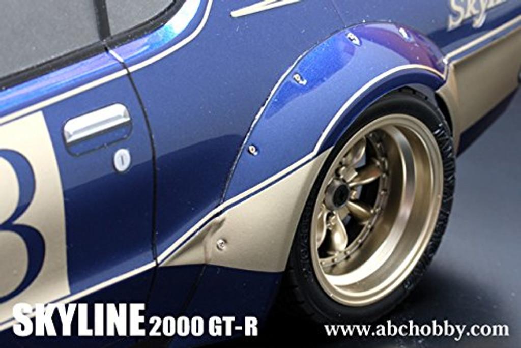 SKYLINE GTR KENMERI Racing Over Fender Kit 200mm Body